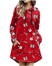 Baiomawzh Julklänning dam överdimensionerad tröjklänning långa klänningar julklänning vinter jultröja tröja miniklänning vinterklänningar tonåring flickor