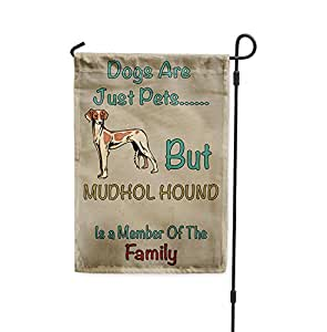 Perros Solo mascotas pero Mudhol Hound perro miembro de familia Patio Casa Jardín bandera