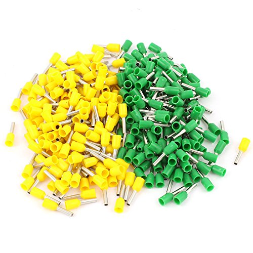 320pcs Insulated AWG16 Green Yellow Sleeve Copper Crimp Pin Terminals