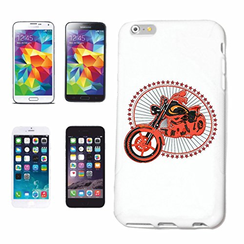 "cas de téléphone iPhone 6+ Plus ""CHOPPER MOTO POUR BIKER ROCKER ET Motorradfahrer HARLEY MOTORCYCLE CLUB CUSTOMBIKE MC"" Hard Case Cover Téléphone Covers Smart Cover pour Apple iPhone en blanc"