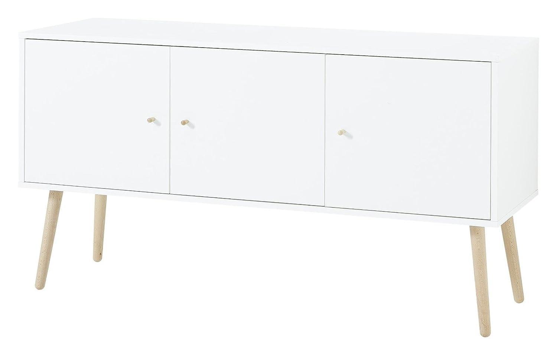 Dynamic24 Kommode Teilmassiv Sideboard Wohnzimmer Holz Esszimmer