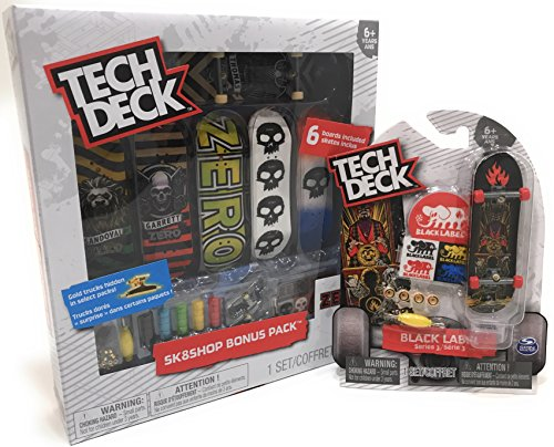 調停する組立スラックセット – Tech Deck – sk8shopボーナスパック – プリミティブスケートボードと1ブラックラベルシリーズ3。