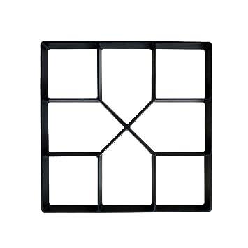 XTXWEN Encofrado de concreto, Molde de fundición 40X40X4 cm - para concreto, pavimento de