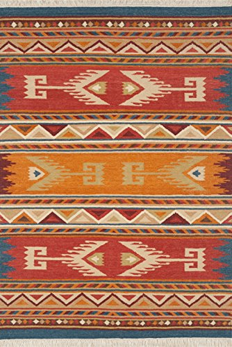 - Continental Rug Company L5002 LE1205 Lodge Area Rug 2' x 3' Red,Orange,Blue