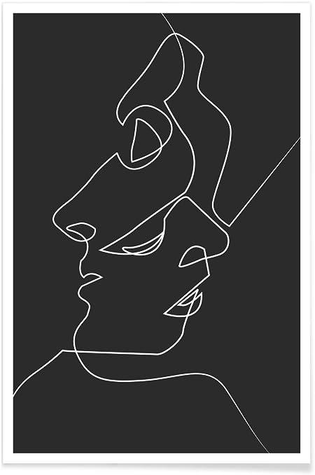 Juniqe Affiche 40x60cm Noir Blanc Couples Design Close Noir Format Portrait Poster Tirages D Art Tableaux Par Des Artistes Independants Art Moderne Et Abstrait Cree Par