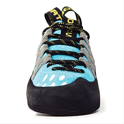 La Sportiva Women's TarantuLace Performance Rock Climbing Shoe, Turquoise, 40 M EU
