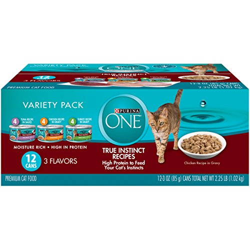 Purina One True Instinct Recipes Wet Cat Food Variety Pack - (2 Packs Of 12) 3 Oz. Cans