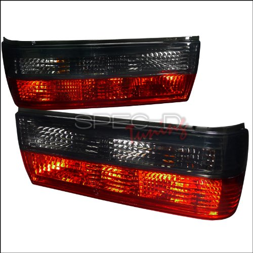 Spec-D Tuning LT-E30884RG-APC Bmw E30 325 318 2 4 Door Convertible Coupe Sedan, Red Smoked Tail Lights Lamps ()