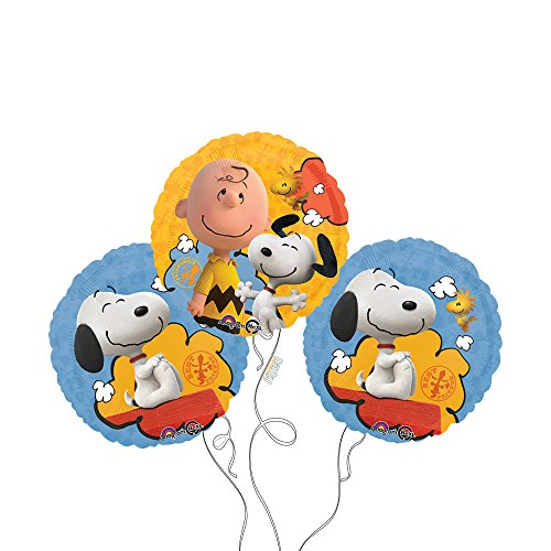 Peanuts Movie Mylar Balloon 3pk product image