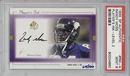 Randy Moss Signed Auto 1999 Sp Authentic Players Ink Level 2