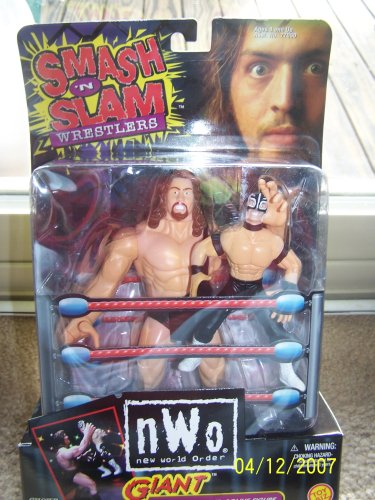 NWO - 1999 - Smash 'n Slam Wrestlers - Giant w/ Rey Mysterio Jr Bonus Figure - Toy Biz - Very Rare - Limited Edition - Mint - Collectible (Sting Wrestler Figure Action)
