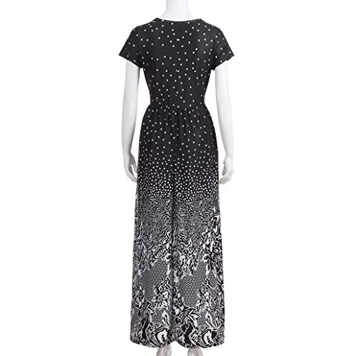 Rambling Popular Women's Sleeveless/Short Sleeve Maxi Dress Floral Print Causal Long Dress with Pocket by Rambling (Image #5)