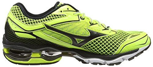 Mizuno Wave Creation 18, Zapatillas De Running para Hombre Amarillo - Yellow (Safety Yellow/Black/Silver)