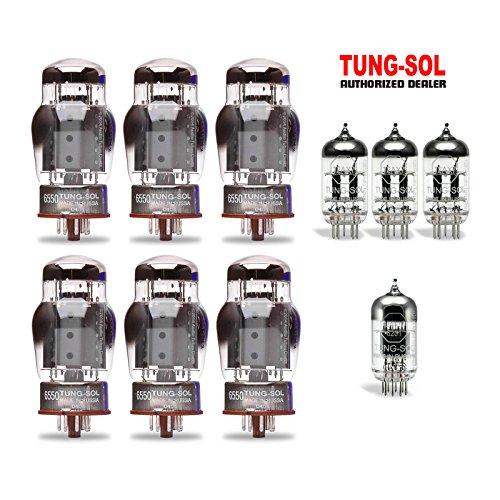 Bassman Head (Tung-Sol Tube Upgrade Kit For Fender Super Bassman Head 2012 6550/12AX7/12AT7)