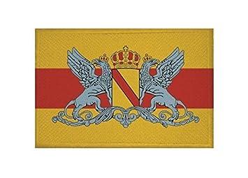 Aufnäher Großherzogtum Baden Fahne Flagge Aufbügler Patch 8 x 5 cm