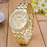 Men's Watches, Men's Simulated Diamond Watch Wrist watch Dress Watch Fashion Watch Sport Watch Quartz Swiss Large Dial Designers Rose Gold Plated Alloy (Color : Silver)