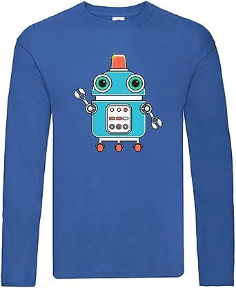 Camiseta de manga larga con diseño de robot con antena ...