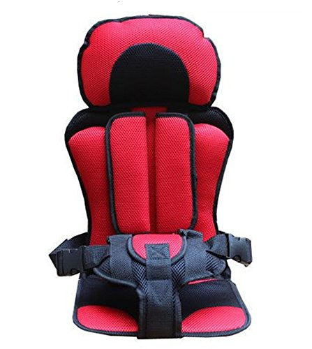 Baby Car Seat Cushion for 1 to 5 Years Kids Chair Cushion In Car (red)