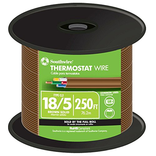 Brown Wire 100ft Spool - Southwire 64169644 Thermostat Wire