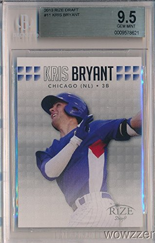 Mint Gem Bgs 9.5 (KRIS BRYANT 2013 Leaf Rize Draft ROOKIE Card Graded BGS 9.5 GEM MINT! Awesome SUPER HIGH GRADE ROOKIE of Chicago Cubs World Champion Superstar MVP! Wowzzer!)