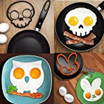 Allshope 2018 New Funny Silicone Pancake Mould Ring Fried Egg Cooking Kitchen Tool 6 Fuction: eggs and pancakes cooking tools Pattern: Purple owl,orange bunny, yellow smile face, black skull, cat, frog Material:silicone