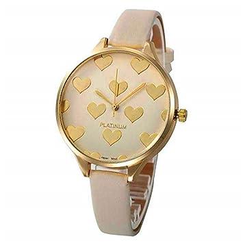 WSSVAN Reloj analógico de Cuarzo para Mujer Cuero sintético ...