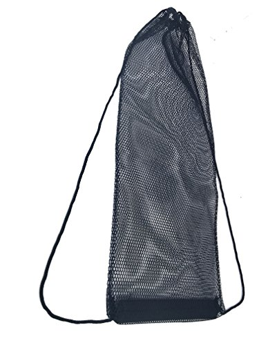AxiCore Snorkeling, Scuba Diving, Swimming Mesh Bag. Swim Fin Mesh Gear Bag. Double Shoulder Strap so can be carried as backpack or slingpack. Durable Large Mesh Fin Bag. by AxiCore