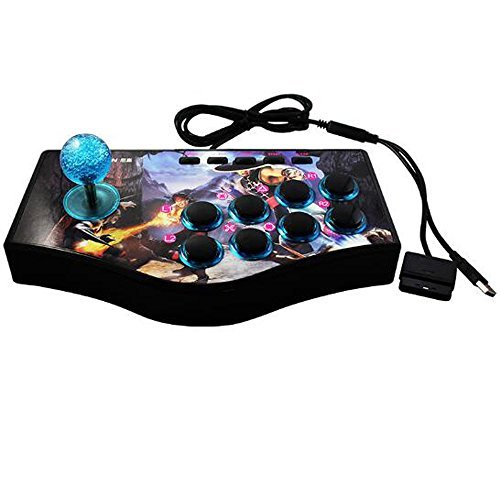 SUNCHI 3 in 1 Arcade Fighting Stick Joystick Gamepads Game Controller for PC / PS3 / Android Smartphone TV ()