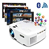 ERISAN Projector Video Home TV Theater, LED Android 6.0 WiFi Bluetooth, 220 ANSI
