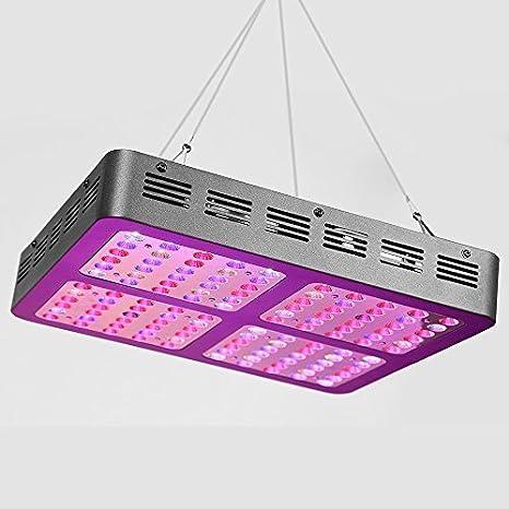 1457e0077 Glighone Luz para Plantas Lámpara LED para Plantas 1200W Iluminación Panel  de Cultivo para Verduras y Flores Verdes Ayuda el Crecimiento, Enchufe  Europeo, ...