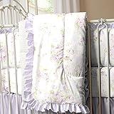 Carousel Designs Lavender Shabby Floral Crib Comforter