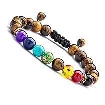 UEUC Chakra Bracelet Diffuser Yoga Balance Adjustable Bracelet To Fit Any Wrist Reiki Healing