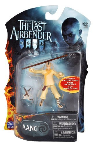 Paramount Movie Series The Last Airbender 4 Inch Tall Highly Articulated Action Figure - AANG with Battle Staff and Momo by The Last -
