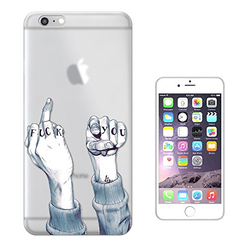 "C0361 - Middle Finger Fuck You Fun Design iphone 7 (4.7"") Fashion Trend Silikon Hülle Schutzhülle Schutzcase Gel Rubber Silicone Hülle"