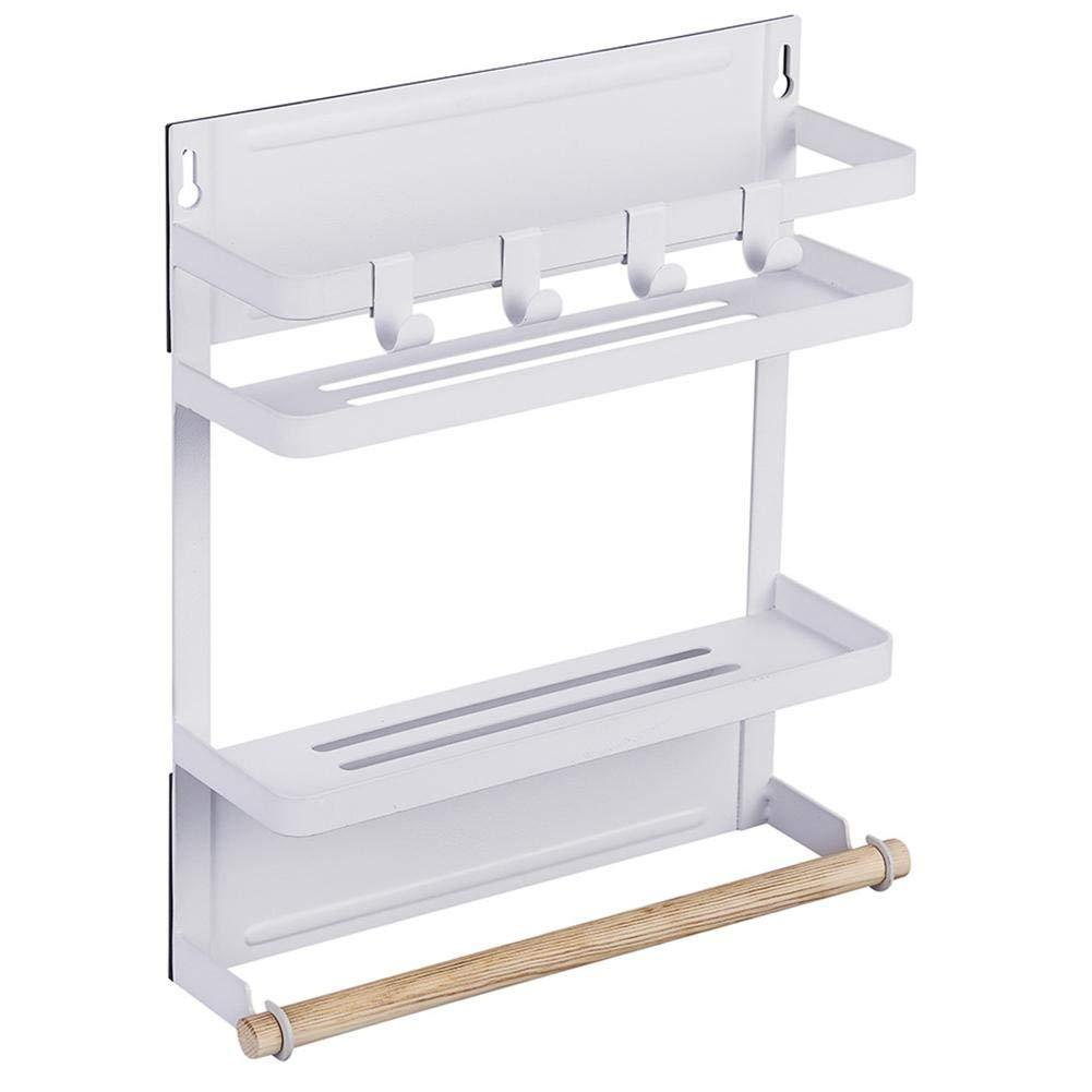 Jannyshop Kitchen Rack Magnetic Refrigerator Storage Organize