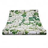 OMEM Reptiles House Background Wallpaper 50cm x 45cm (White & Leaves)