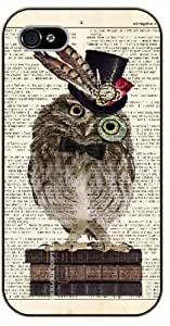 iPhone 4 / 4s Classy hipster owl - black plastic case / Animals and Nature, owl, owls, vintage