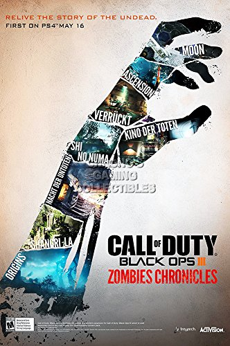 CGC Huge Poster - Call of Duty Black Ops III Zombie Chronicles PS4 PS3 XBOX ONE 360 GLOSSY FINISH - OTH561 (16