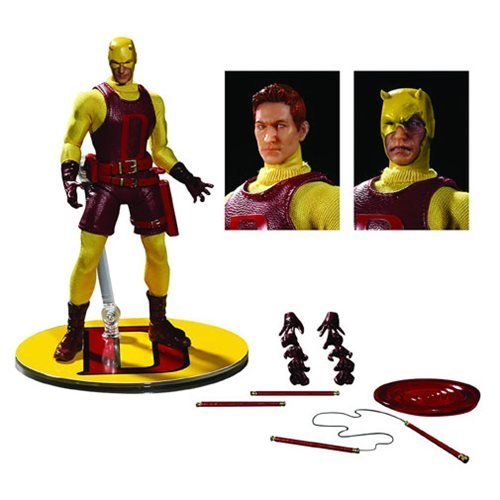 Marvel Yellow Daredevil Matt Murdock PX Exclusive 1:12 Action Figure Mezco Toyz One:12