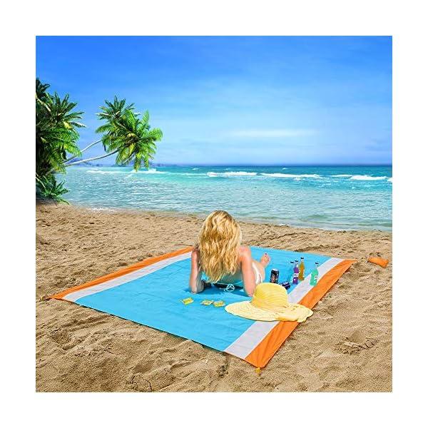 YZCX Coperta da Picnic Spiaggia Extra Grande 210x200cm Impermeabile Durevole Portatile Leggero Tappeto per PIC-nic… 2 spesavip