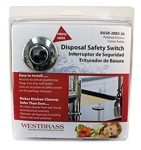 Westbrass RASB 2B3 62 Flush Button Air Switch Dual Outlet Box Matte Black