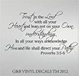 TRUST IN THE LORD PROVERBS 3:5-6 VINYL DECAL HOME DECOR LARGE 20″ TALL