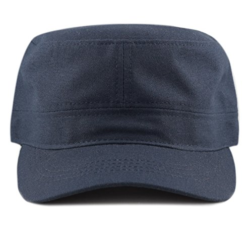 The Hat Depot Cotton Twill Military Caps Cadet Army Caps (Navy) ()