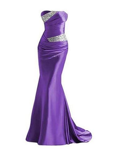 Ikerenwedding Women's Floor-Length Sequins Strapless Formal Long Evening Dress