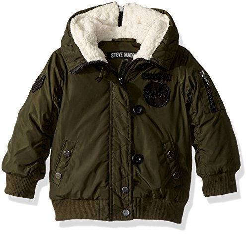 Steve Madden Baby Girls' Fashion Outerwear Jacket (More Styles Available), 1033-Military Green,...