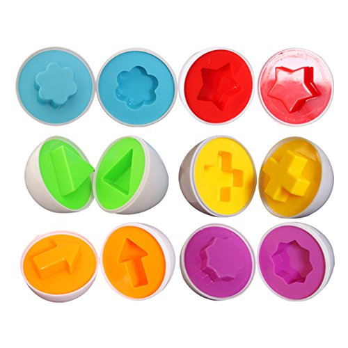 6 Pack Matching Shapes And Colors Eggs Toys