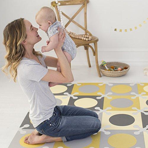 Skip Hop Interlocking Foam Floor Tiles Playspot Goldgrey All