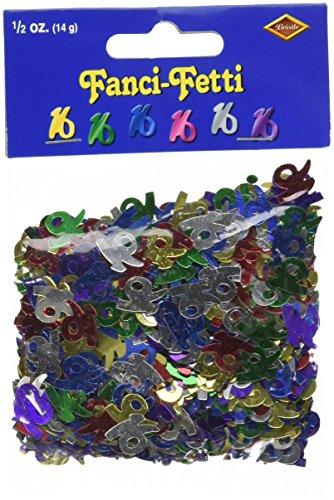 Fanci-Fetti 16 Silhouettes (multi-color) Party Accessory  (1 count) (.5 Oz/Pkg)