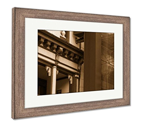 Ashley Framed Prints Generic Pub Sign On Building Tavern Exterior to Graphic Overlay Any Name, Wall Art Home Decoration, Sepia, 26x30 (Frame Size), Rustic Barn Wood Frame, AG6467302