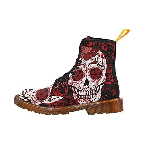 LEINTEREST Fractal Skull red Martin Boots Fashion Shoes For Women